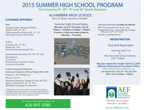 AEF Summer School ad HS_opt-edit