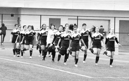 Girls Varsity Soccer 1 BW